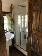 Petite Style Plus 1600mm x 700mm Silver Finish Bifold Shower Door